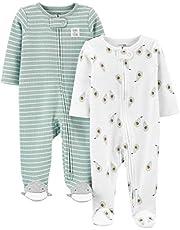 Simple Joys by Carter's Pack de 2 Cremalleras térmicas de 2 vías para Dormir y Jugar Unisex bebé