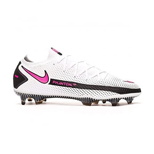 Nike Phantom GT Elite FG - Zapatillas deportivas, color blanco, negro y rosa