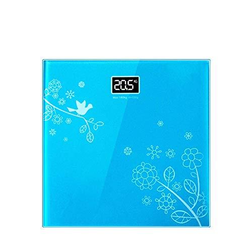 B/H Básculas de baño Inteligentes Digitales,Escala electrónica Azul,Peso Digital Inteligente
