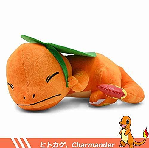 INGFBDS Sleep Position Charmander Peluche Toy Poket Kawaii Charmander Soft Stuffed Doll Plush Toy For Children 27 cm