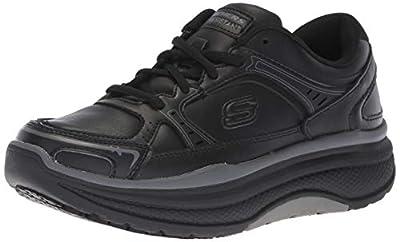 Skechers Women's Cheriton Shuykill Food Service Shoe, Black Leather, 6.5 M US