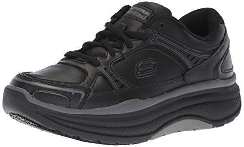 Skechers Women's Cheriton Shuykill Food Service Shoe, Black Leather, 11 M US