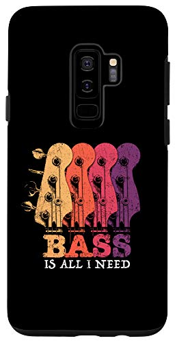 Galaxy S9+ Bass Guitar Vintage Headstock Bass is all I need for Bassist Case