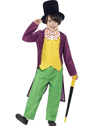 Smiffys Willy Wonka - Roald Dahl - Childrens Disfraz - Grande - 158cm - Edad 10-12