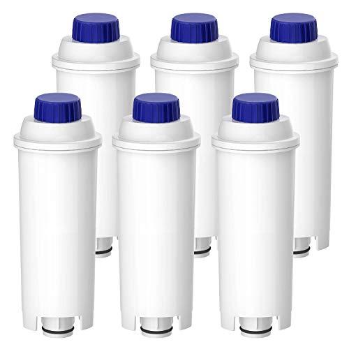 Waterdrop TÜV SÜD Zertifizierte Wasserfilter, Kompatibel mit DeLonghi Kaffeevollautomat ECAM, Eletta, Dinamica, DLSC002, Magnifica, ETAM Autentica und Verschiedener Modelle von Esam (6er Packungen)