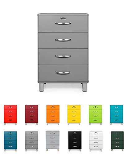 Tenzo 5116-014 Malibu - Designer Kommode 92 x 60 x 41 cm, MDF lackiert, grau