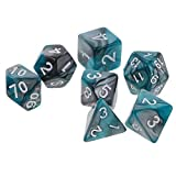 ELECTROPRIME 7X Polyhedral Dice for Dungeons and Dragons D20 D12 D10 D8 D6