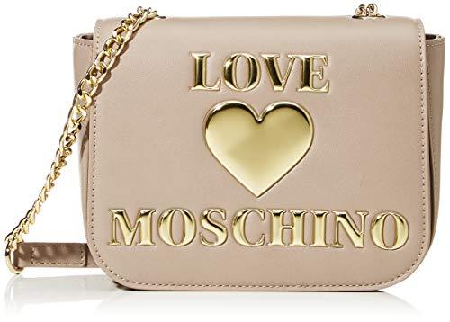 Love Moschino PU, Borsa da Donna, Grigio, Normale