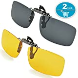 Best Clip On Sunglasses - Clip-on Sunglasses Splaks Unisex Polarized Frameless Rectangle Lens Review