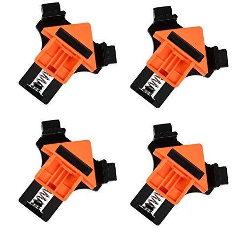 4 abrazaderas de ángulo rectas, abrazaderas angulares de fijación multifuncionales, fijador de clip angular ajustable en ángulo recto a 90°, para trabajos de madera, armarios, cajones y marco