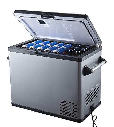 Ausranvik 54 Quart Portable Refrigerator – 4°F Degree - 12V DC, 110V AC Power - Large Capacity – Single Door - Fridge Freezer for Car, Camping, Boat, Road Trip and Outdoor Activities.