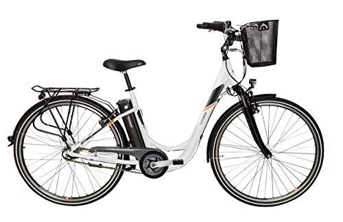 Telefunken E-Bike Elektrofahrrad Alu 28 Zoll mit 3-Gang Nabenschaltung, Pedelec Citybike leicht mit Fahrradkorb, Mittelmotor 250W 10,4 Ah, 36V Sitzrohrakku, RC772 Multitalent