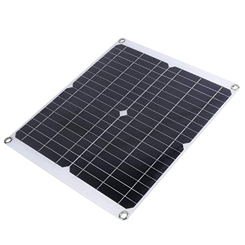 DAUERHAFT Cargador Solar Plegable portátil de 20W 35W Cargador Solar de Cristal único Alta tasa de conversión Ligero para teléfonos celulares, iPhone, iPad, Android, Samsung Galaxy LG, etc.