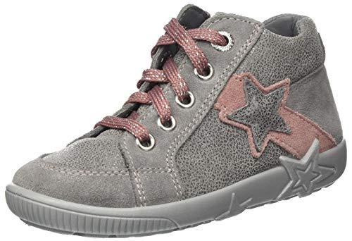 Superfit Baby Mädchen STARLIGHT Sneaker, Grau (Hellgrau/Rosa 25), 23 EU