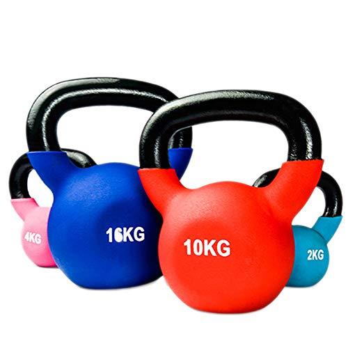 YXST Kettlebell 2kg/4kg/6kg/8kg/10kg/12kg/14kg/18kg/20kg Equipo De Entrenamiento De Gimnasio En Casa Fuerza Fitness Entrenamiento con Pesas Pilates,4KG