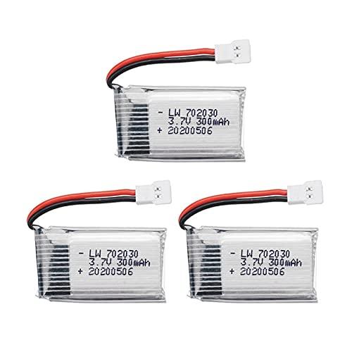Batteria economica da 3,7 V 300 mAh compatibile con Udi U816 U830 F180 E55 FQ777 FQ17W Compatibile con Hubsan Compatibile con H107 Compatibile con Syma X11C FY530 RC Drone Parts 3.7 v 702030 Batteria