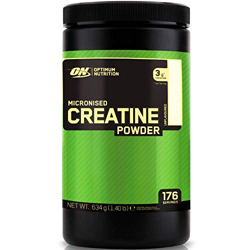 Optimum Nutrition Micronised Creatine Monohydrate, Créatine Monohydrate Micronisé en Poudre, Non Aromatisé, 176 Portions, 634g