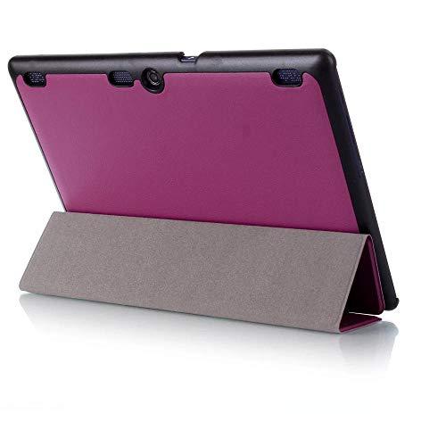 para Lenovo Tab 2 a10 70f Funda de Piel para tab2 a10-70 70 a10-70f a10-70l a10-30 x30f Tablet 10.1 Fundas Tablet Case-Violeta