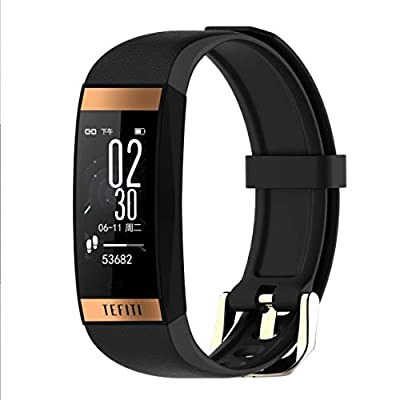 TPE Fitness Tracker HR Heart Rate & Activity Tracker Waterproof Smart Bracelet with Step Counter, Calorie Counter,Sleep Monitor,Smart Fitness Band as a for Women Kids Men (Black)