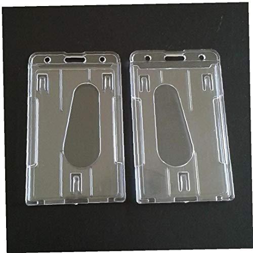 Sourcingmap plastica morbida verticale multi card ID badge Holder/ confezione da 4 /rosa