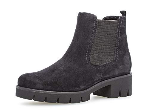 Gabor Damen Chelsea Boots 34.710, Frauen Stiefelette,Stiefel,Halbstiefel,Schlupfstiefel,gefüttert,Winterstiefeletten,Pazifik,37.5 EU / 4.5 UK
