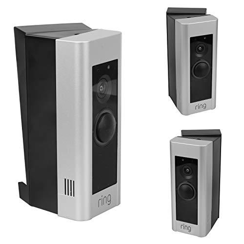 Einstellbarer Winkelhalterung für Ring-Video-Doorbell-Pro - 30° Links & 30° Richtig Winkel Türklingel Adapter, Sichtfeld erweitern (Schwarz)