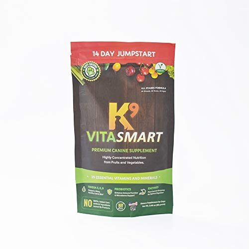 Ruff Greens K9 VitaSmart Vitamin & Mineral Supplement Nutritional Support for Dogs, 3.45 Ounce