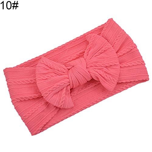 litty089 Mode Effen Kleur Strik Brede Haarband Geschikt Voor Baby Meisjes Hoofdband Haaraccessoires