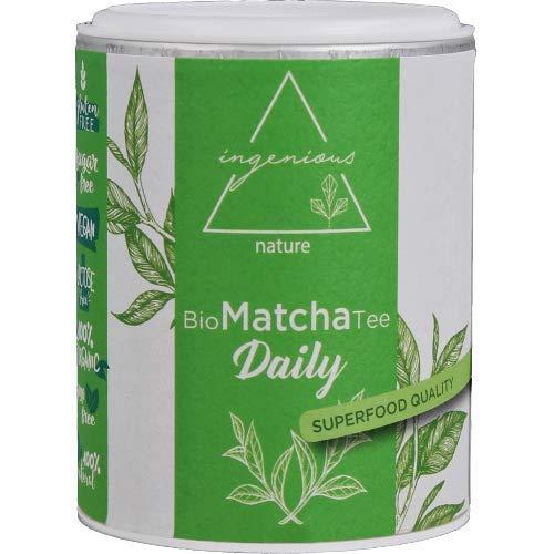 ingenious nature Bio Matcha Tee Pulver 30g - ZEN Qualität - Für Smoothies - reich an Koffein und Antioxidantien