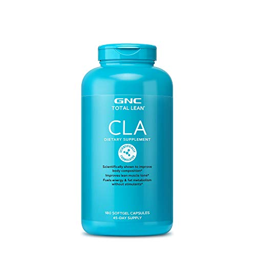 GNC Total Lean CLA, 180 Softgels, Supports Exercise and Muscle Recovery