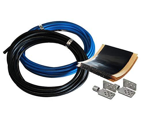 Montageset MS1 - Montagezubehör für Heizfolie - Selbstschweißendes Kautschuk-Isolierband Scotch - Pressklemme - Quetsch-Verbinder - Verbindungskabel