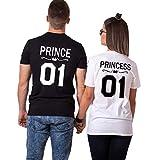 Pareja Camisetas Prince Princess T-Shirt 01 Impresión Hombres y Mujer Camiseta...
