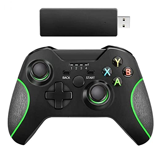nJiaMe Wireless Gamepad Joypad Joystick Interruptor Remoto Controlador para Microsoft Xbox One/S/X/E / PS3 / Windows 10 Negro