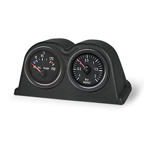JOM Car Parts & Car Hifi GmbH 21124 Support pour 2 manomètres, Tableau de Bord, Noir