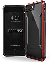 Raptic Shield, Compatible with Apple iPhone 8 Plus & iPhone 7 Plus (Formerly Defense Shield) - Military Grade Drop Tested, Anodized Aluminum, TPU, and Polycarbonate Protective Case, (Red)