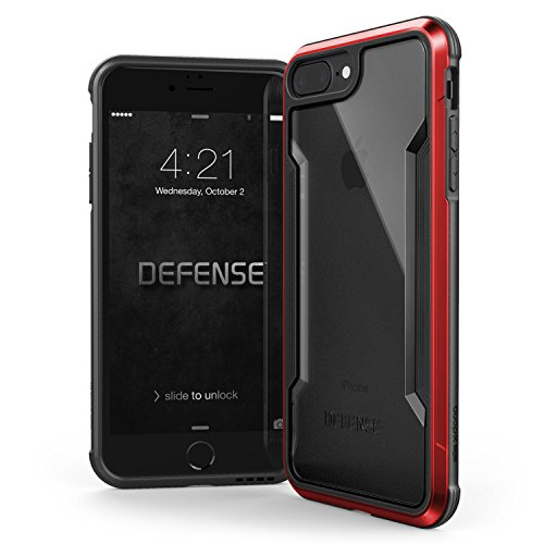 Raptic Shield, compatible con Apple iPhone 8 Plus y iPhone 7 Plus (anteriormente escudo de defensa) – Probada de caída de grado militar, aluminio anodizado, TPU y policarbonato funda protectora (rojo)