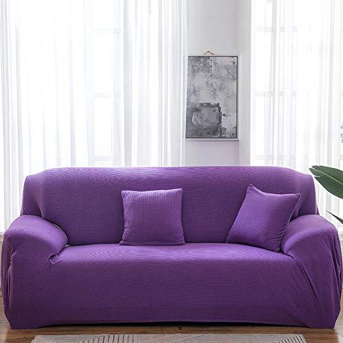 B/H Muebles Elegante Sofa Cubre,Funda de sofá Gruesa de Color Liso, Funda de sofá elástica de Punto-Violeta A_235-300cm,Fundas de sofá de Esquina