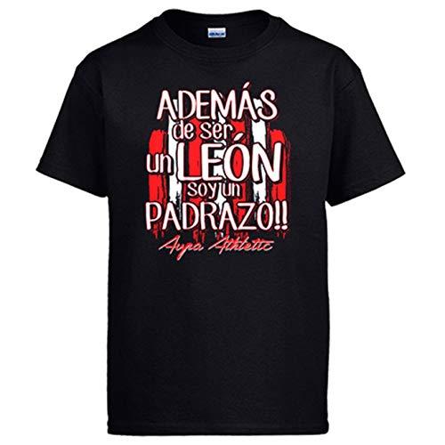 Diver Bebé Camiseta además de ser un León Soy un padrazo Bilbao fútbol - Negro, L