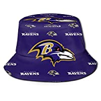 GHK Baltimore Ravens Bucket Hat Funny Fisherman's Hat Unisex Sun Protection for Adults?Children