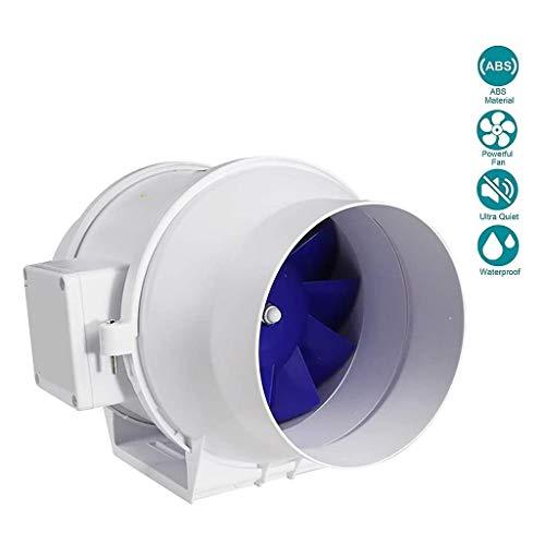Lcxligang Baño campana extractora Inline ventilador 6 en línea Extractor tranquila axial del conducto del ventilador de flujo mixto de ventilación de volumen de aire 550/440/340 m³ / h con el motor de