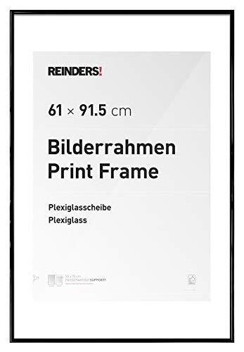 REINDERS® Bilderrahmen für Maxi Poster 61 x 91,5 cm - Wechselrahmen schwarz Kunststoff