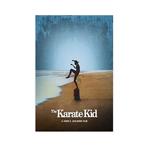 Minimal Filmposter The Karate Kid Leinwand Poster Schlafzimmer Dekor Sport Landschaft Büro Zimmer Dekor Geschenk 20 × 30 cm ohne Rahmen