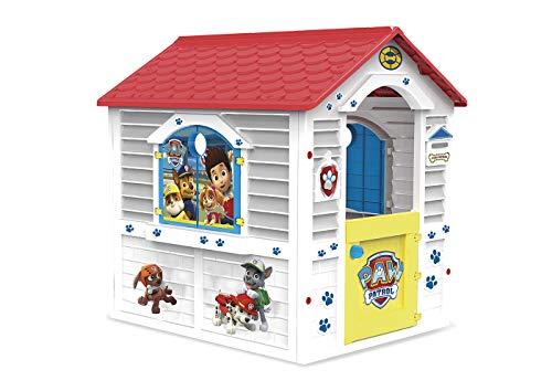 Chicos - Patrulla Canina Casita infantil de exterior, color blanca con tejado rojo (La Fábrica de Juguetes 89526)
