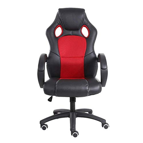 High Back Recliner For Adults, Gaming Swivel Chair Office Meeting Wheelchair Ergonomic Design, Breathable,1Red