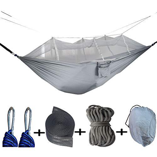 ZEIYUQI Pieghevole Camping Albero Amaca con attaccatura Portatile zanzariera Hammock Sedia per Spiagge, Paddock, Cortili,Grigio