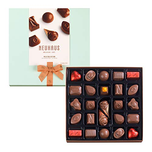 Neuhaus Belgian Chocolate Milk Collection, Gourmet Milk Chocolate Assortment Gift Box, Premium Chocolate Gift Box, Gourmet Chocolate Pralines Gift, 25 count