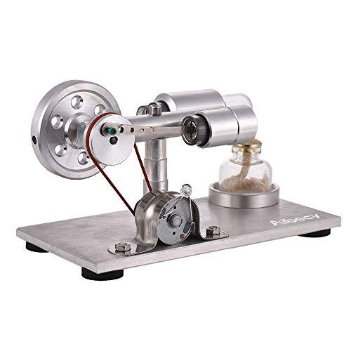 スターリングエンジンモデル Aibecy熱気スターリングエンジン モーターモデル 電気発電機 LEDLEDライト点灯 物理学実験 教育玩具 誕生日プレゼント