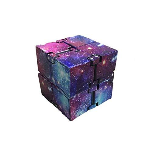Infinity Cube,Mini-ABS Galaxy Finger Unendlicher Würfel Spielzeug, Flip Würfel Dekompression Spielzeug, Zappeln Spielwaren Stressabbau Würfel für Kinder Erwachsene Tötungszeit ADD ADHS Angststörung