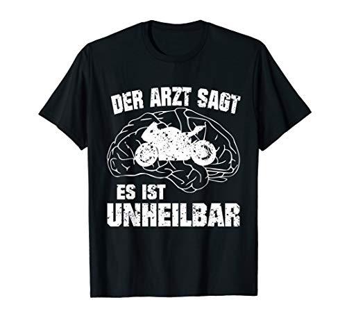 Motorrad Fun T-Shirt Geschenkidee für Biker Motorradfahrer