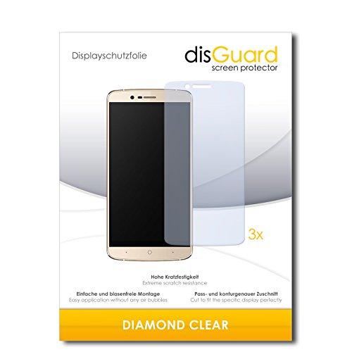 disGuard 3 x Schutzfolie Elephone P8000 4G Bildschirmschutz Folie DiamondClear unsichtbar